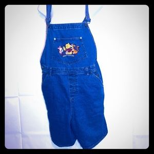 Pants - Pooh overall jean shorts size XL